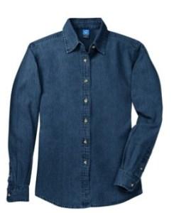 dark blue denim shirt long sleeve