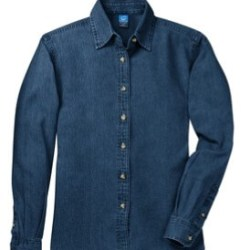 dark blue denim shirt long sleeve