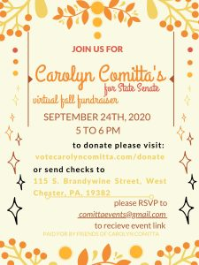 Carolyn Comitta Fall Fundraiser (Virtual) @ Virtual