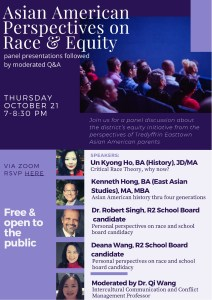 Asian American Perspectives on Race & Equity @ Virtual Event - Zoom