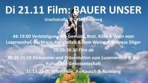 Filmabend BAUER UNSER - billige Nahrung, teuer erkauft @ Weingut Andreas Dilger