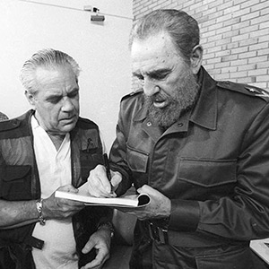 Roberto Salas and Fidel Castro