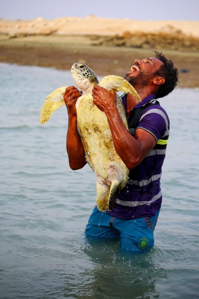 The moment, Persian Gulf, Hengam island, Iran