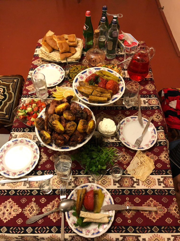 Dinner Spread - Goris, Armenia - Copyright 2018 Ralph Velasco