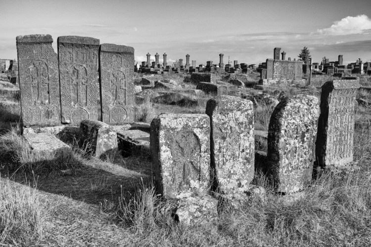 Field of Cross Stones BW - Noratus, Armenia - Copyright 2018 Ralph Velasco