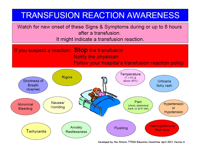 Blood Transfusion Chart