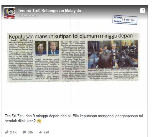 #SuaraAnda: Tol tak hapus, netizen berpantun troll PH.
