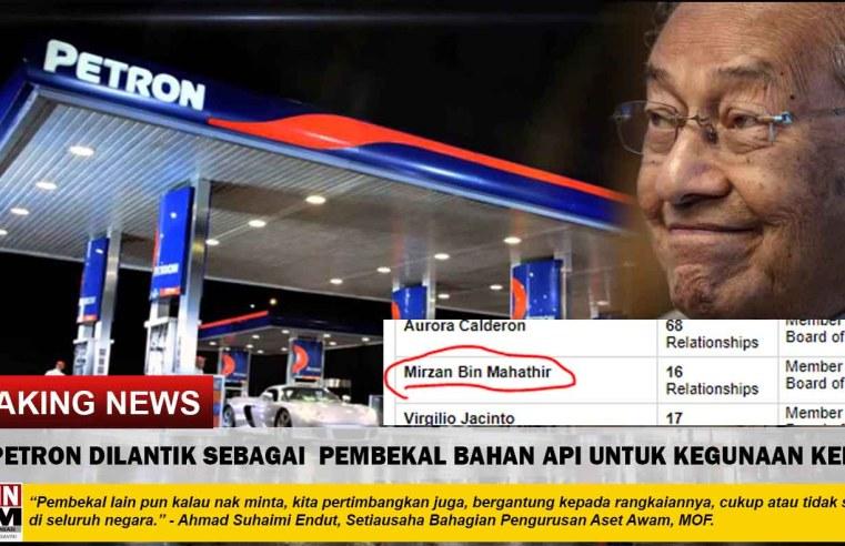 SAH: Petron dilantik menjadi pembekal bahan api kenderaan kerajaan Malaysia.