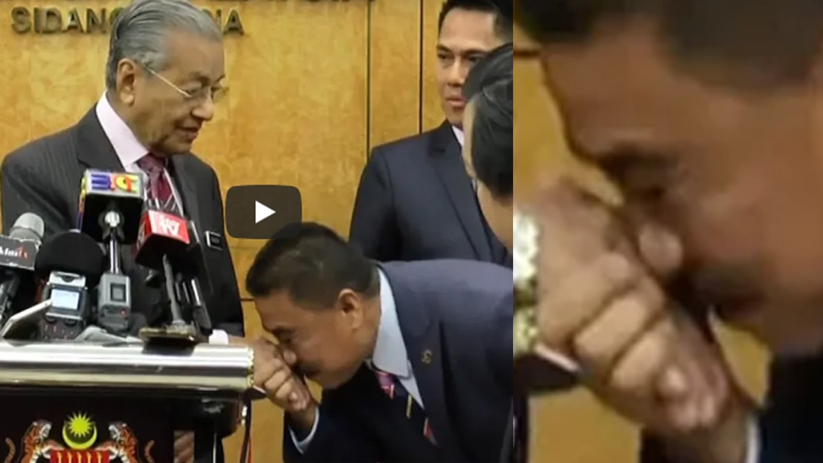 MP Umno cium tangan PM minta maaf