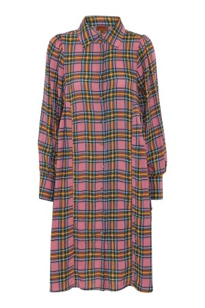 HunKøn - Alberte Shirtdress - Checked - Front