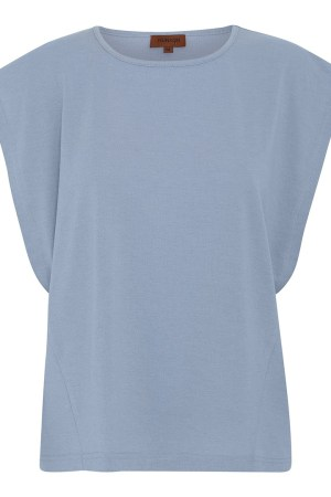 HunKøn - Foxglove Top - Light Blue - Front