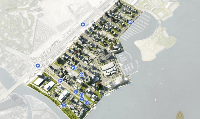 Marina District, Lusail City interactive map. Image credit: Lusail.com