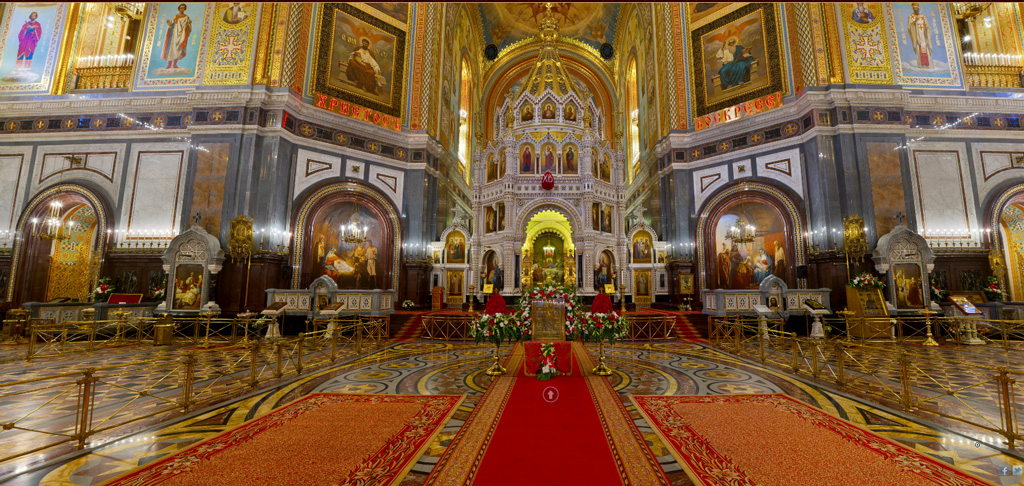 Moscow Saviour Cathedral Interior Russia Christ
