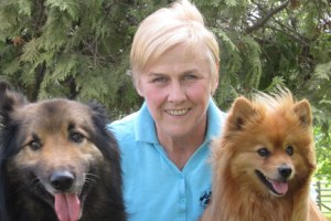 Robyn Hood, senior Tellington TTOuch instructor and her dogs