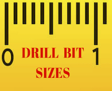 SIZE CHART 221 X 179 - Drilling stainless steel