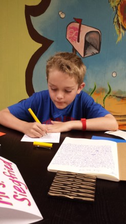Creative Writing, 4th and 5th graders writing stories and poetry