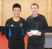 Philip Xiao (Men's Singles Winner) and Matthew Ball (Men's Singles runner up)