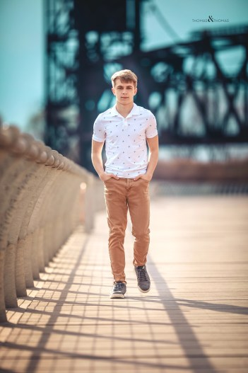 Senior picture on the east bank of the flats