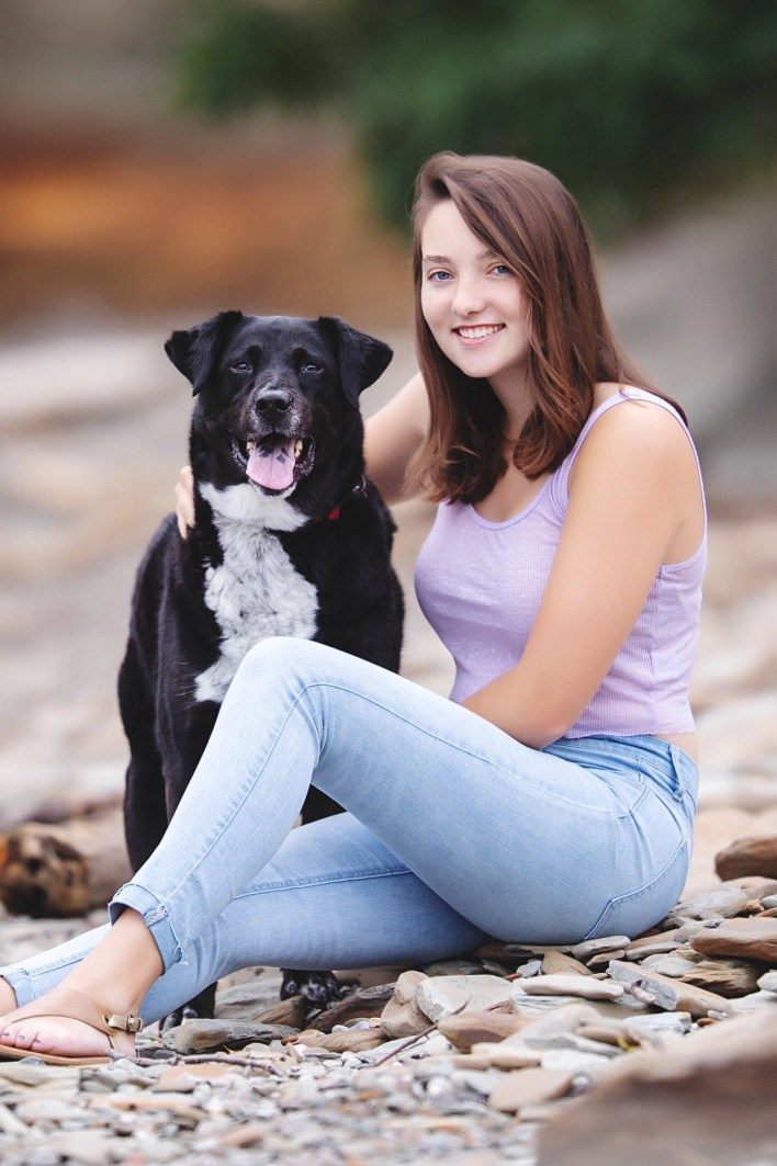 Bring your dog to your senior photography