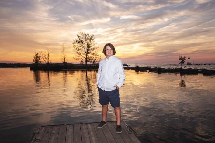 Senior Photography lake erie at sunset