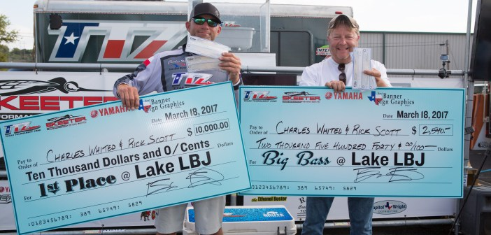 CHARLES WHITED & RICK SCOTT TOP A RECORD FIELD OF 254 TEAMS ON LAKE LBJ WITH 32.19 POUNDS