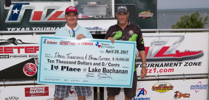 DAVID TOWNSEND & BRYAN COTTER WIN ON BUCHANAN WITH 23.65LBS AND TAKE HOME $10,000