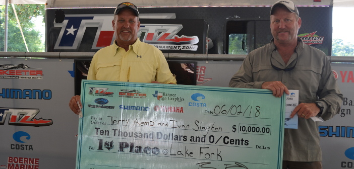 TERRY KEMP & IVAN SLAYTON BRING IN 15.85 POUNDS ON FORK AND WIN $10,000