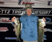 Johnson and Whitehead win Travis Tuesday with 13.56 lbs