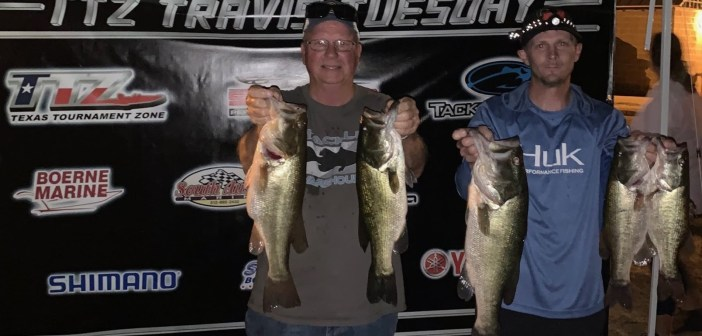 Cearley and Mueller win Travis Tuesday with 15.98 lbs