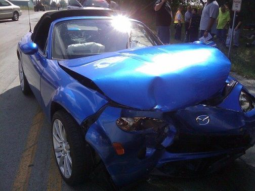 Daños causados por accidentes de auto