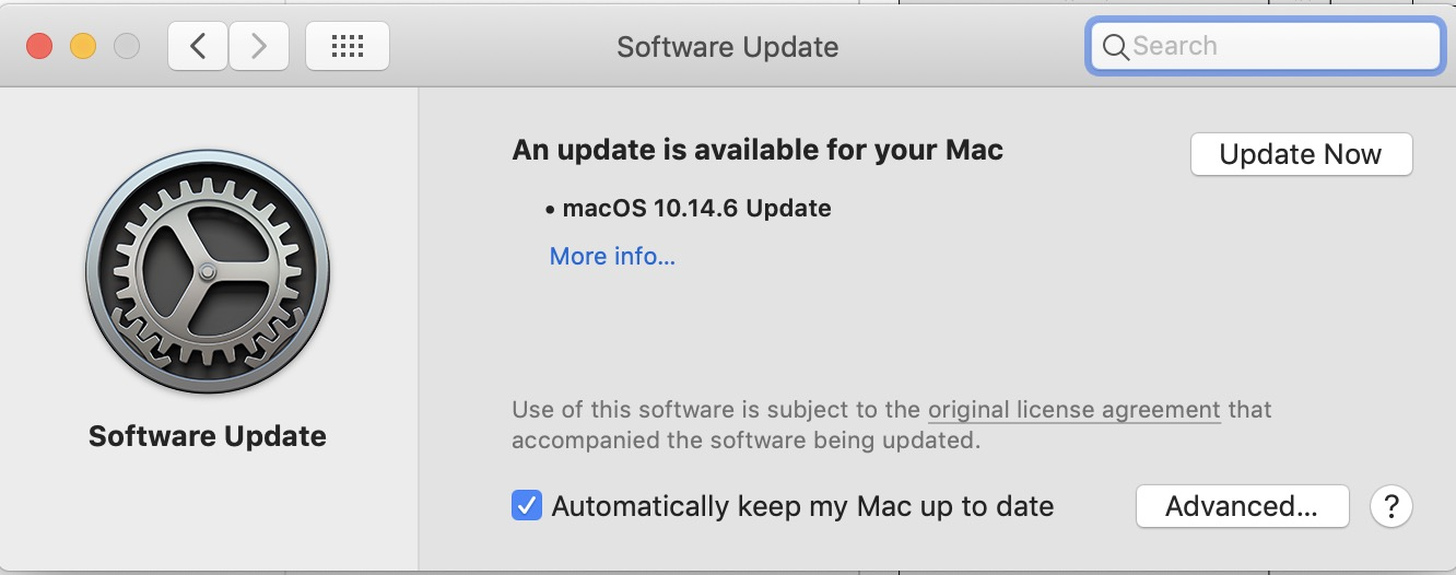 Update your macOS to Mojave 10.14.6