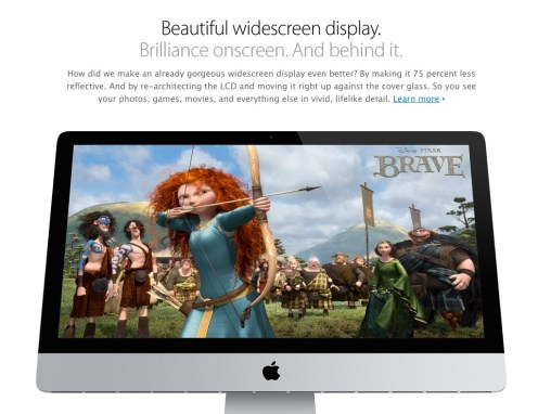 New iMac display, 2013