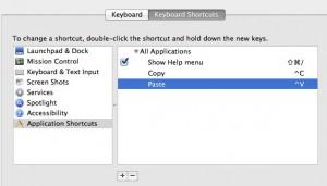 Control V on a Mac