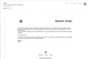 email from Apple?