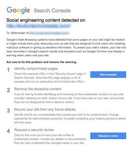 Email warning