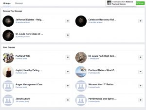 Facebook manage groups