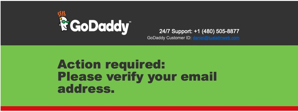 Beware of GoDaddy Phishing Scheme