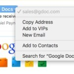Google phishing address