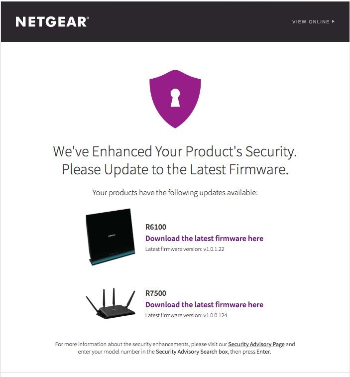 Netgear Firmware Update