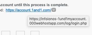 fake IONOS link