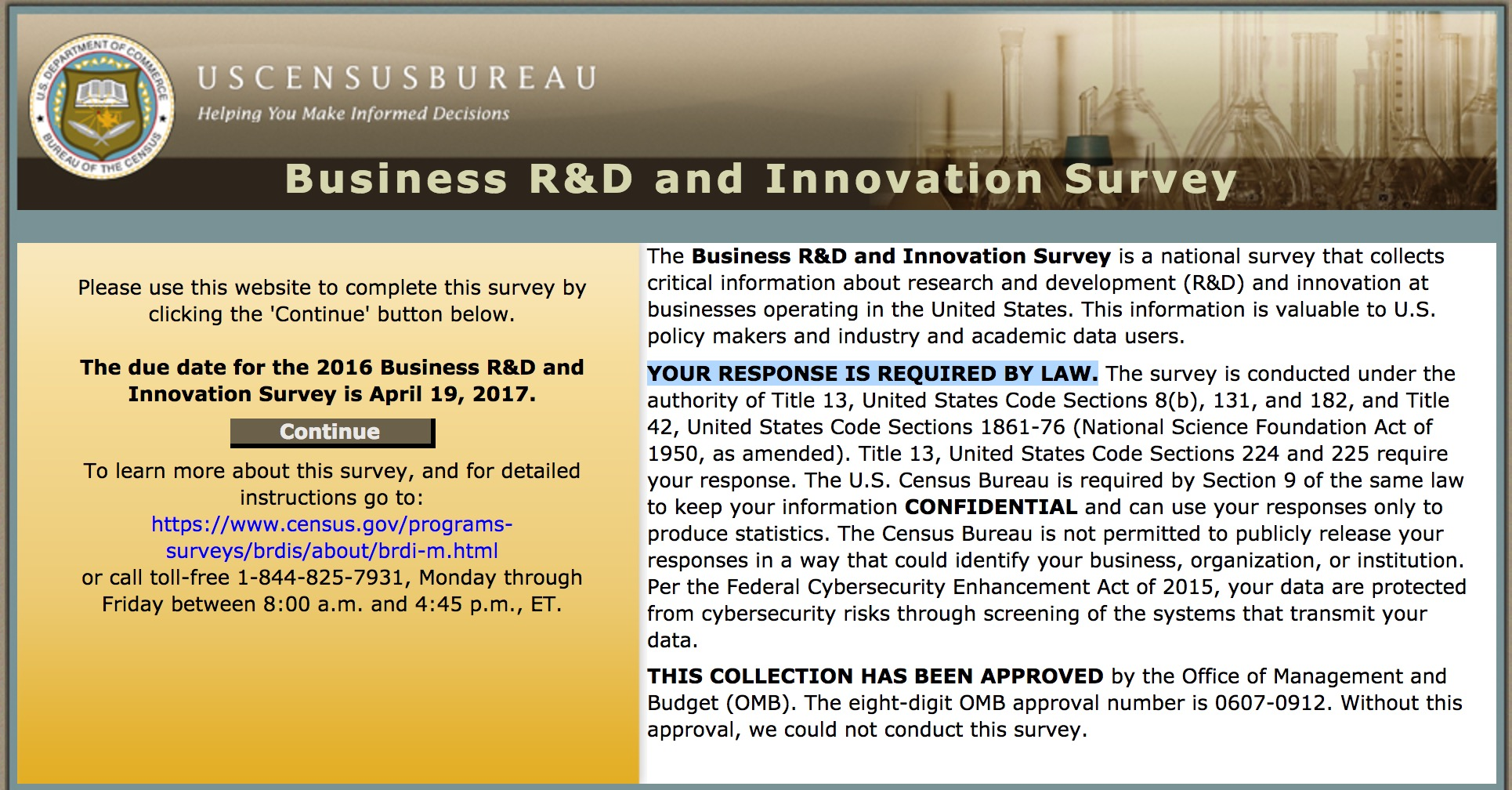 You are currently viewing 2016 Business R&D and Innovation Survey