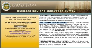 2016 Business R&D and Innovation Survey