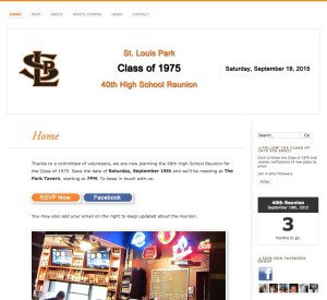 A Reunion Web Site