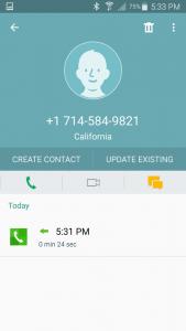 Telemarketing phone number