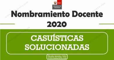 Casuísticas con Respuestas – Nombramiento Docente 2020 [PDF]