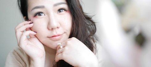 [眼妝] 紅色眼影畫法,微醺妝感的粉紅眼尾