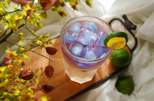 [酒品] 蝶豆花夢幻調酒,檸檬柚子酒基底
