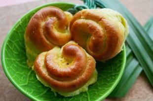 [食譜] 香蘭葉麵包做法,斑蘭葉麵包做法
