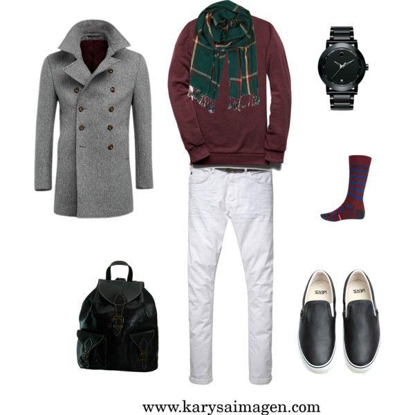 9e79c9f3a2 Imagen hombre  ¿Cómo combinar un pantalón blanco en invierno ...