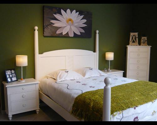 Dormitorio de matrimonio estilo romántico color blanco